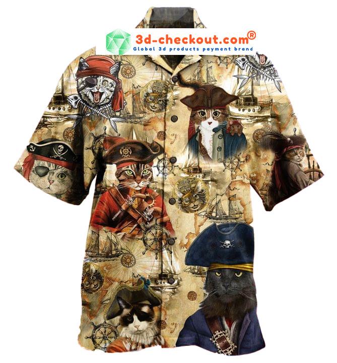 Pirate Cat Unisex Hawaiian Shirt