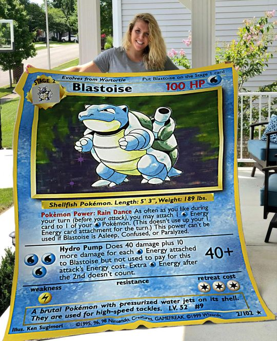 Pokemon Blastoise Blanket