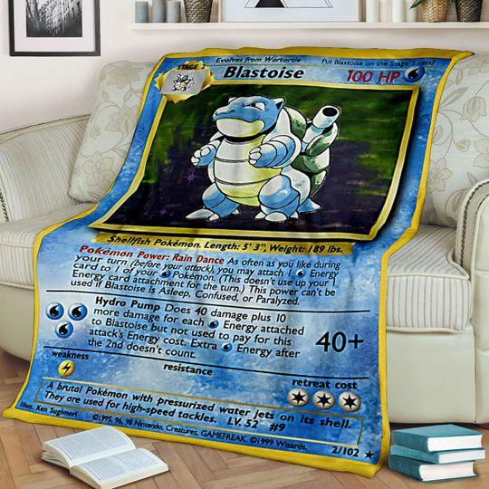 Pokemon Blastoise Blanket1