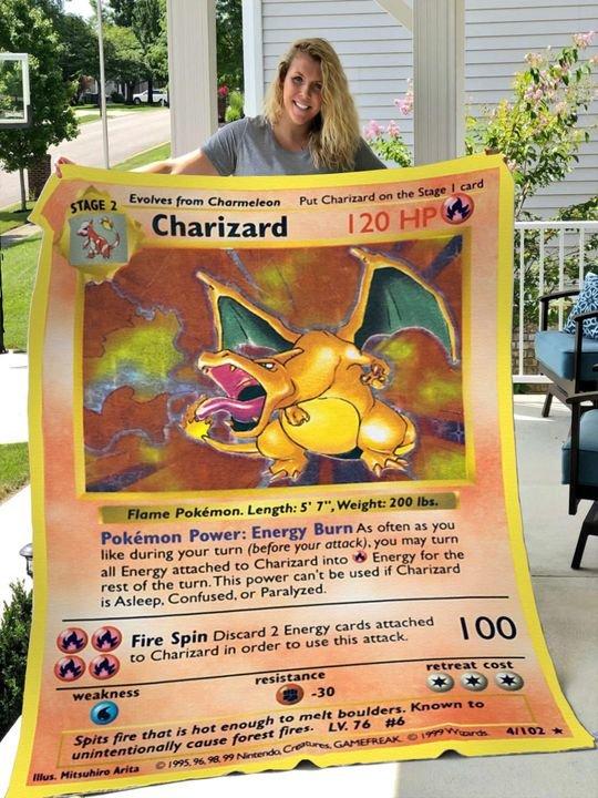 Pokemon Charizard Blanket