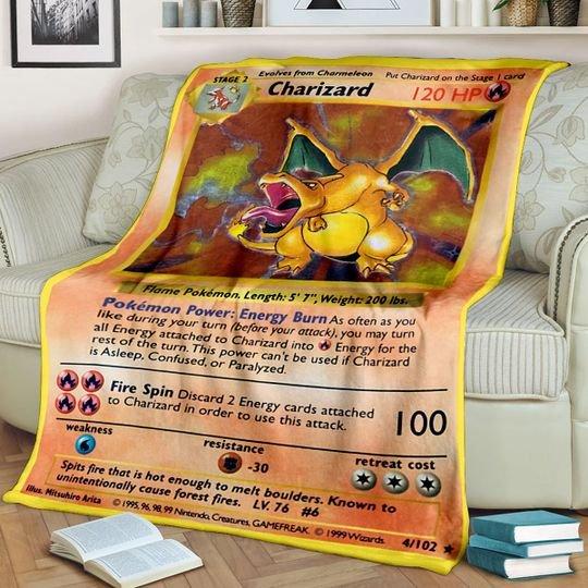 Pokemon Charizard Blanket1