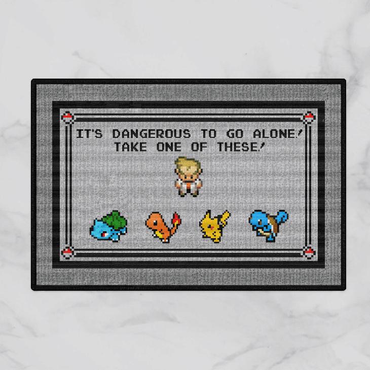 Pokemon x Zelda Its Dangerous To Go Alone Take One Of These Doormat