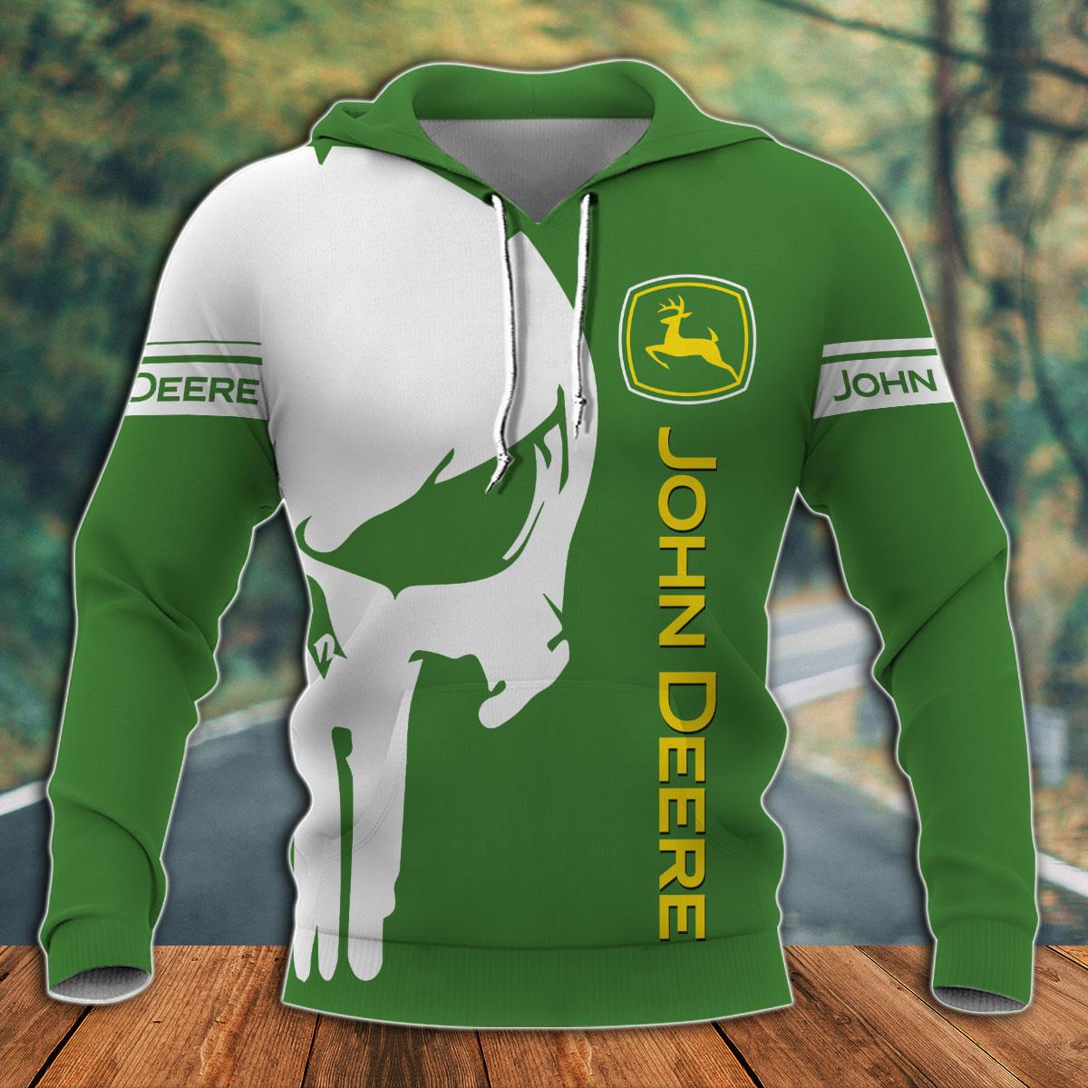 Punisher skull John Deere 3d all over print hoodie