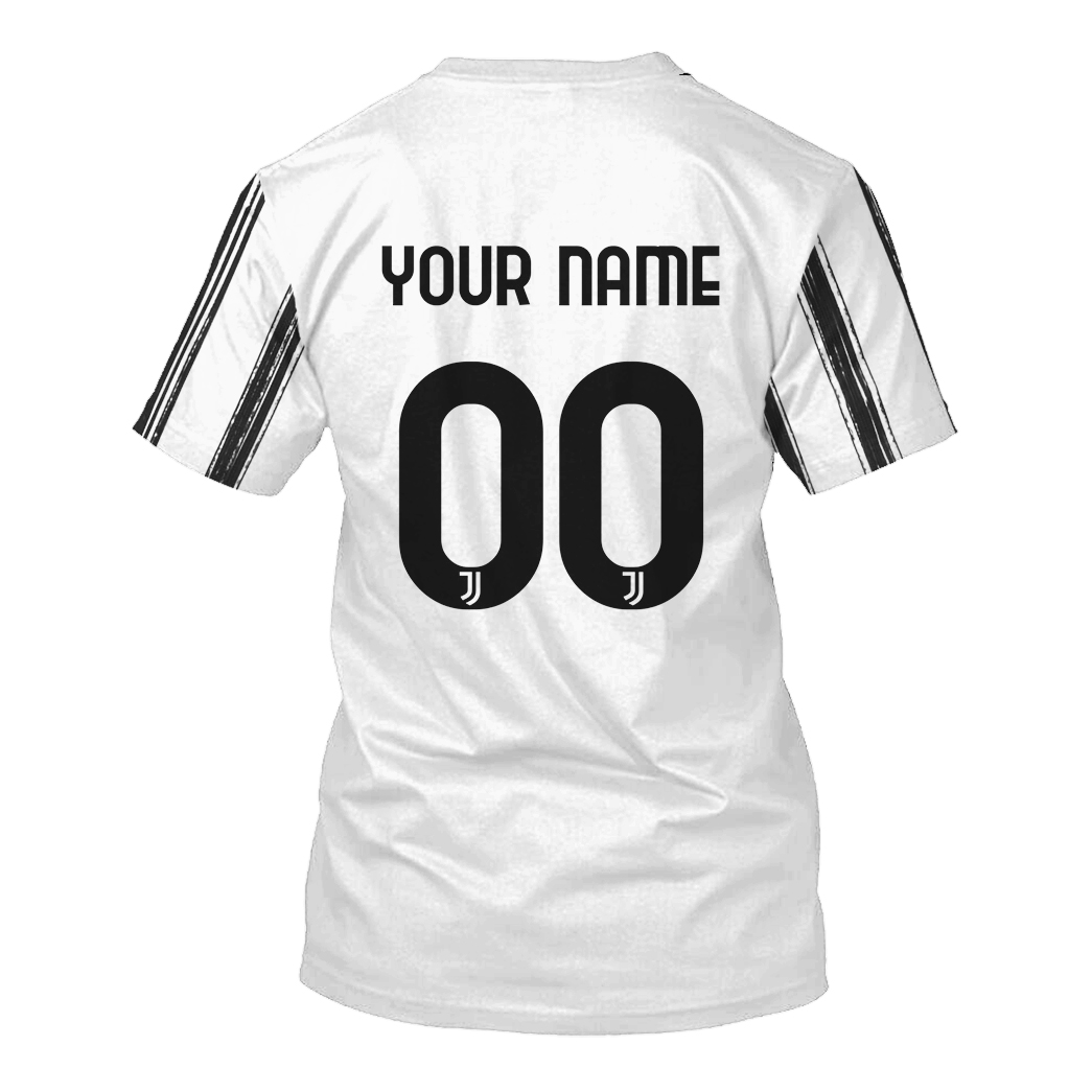 Juventus custom name and number 3d hoodie and shirt 3