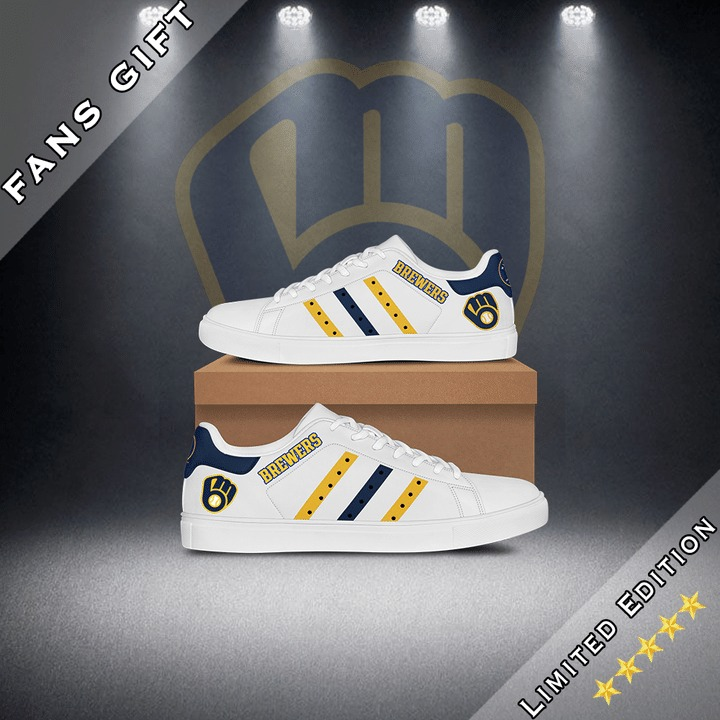 Milwaukee brewers stan smith low top shoes 1