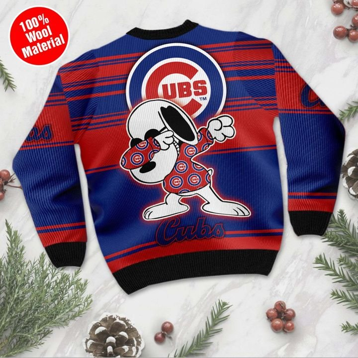 Snoopy Chicago Cubs ugly Christmas sweater 2
