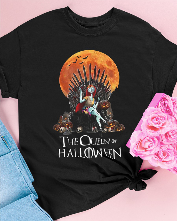 The Queen Of Halloween Hoodie And Shirt