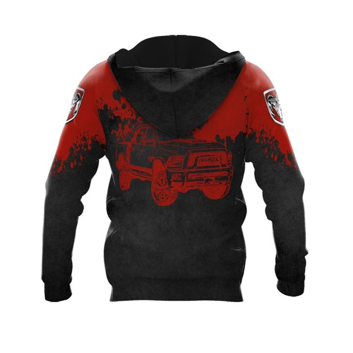 Ram truck punisher skull 3d over print hoodie 2 1