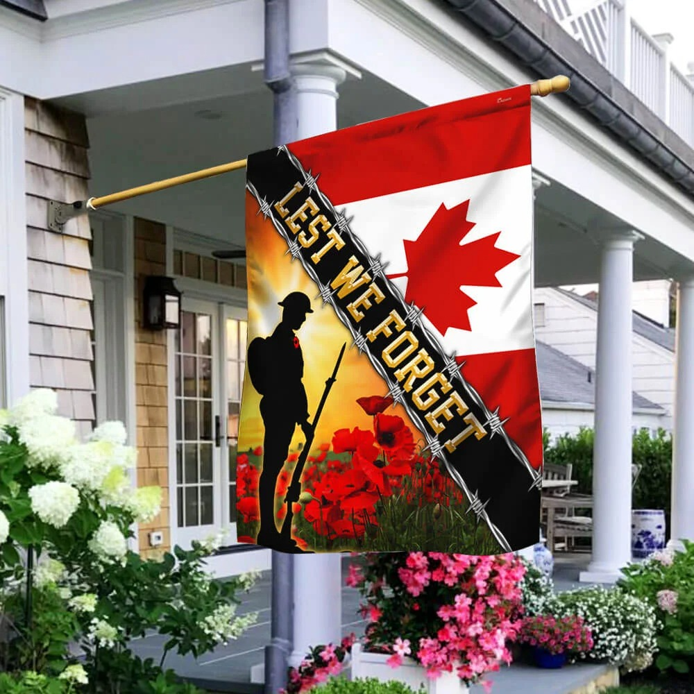 Remembrance Day Canada Veteran Lest We Forget flag