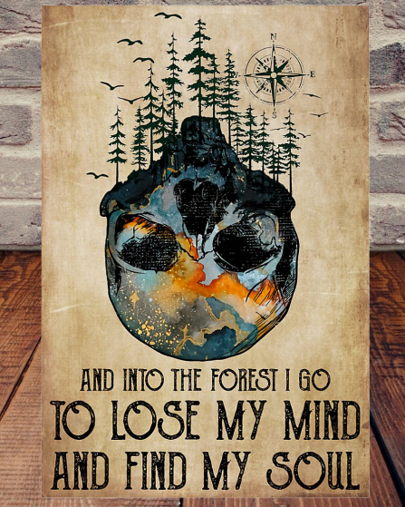Skull And Into The Forest I Go poster