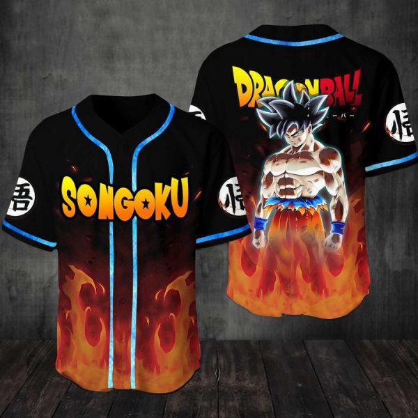 Songoku Dragon ball Baseball Jersey Shirt