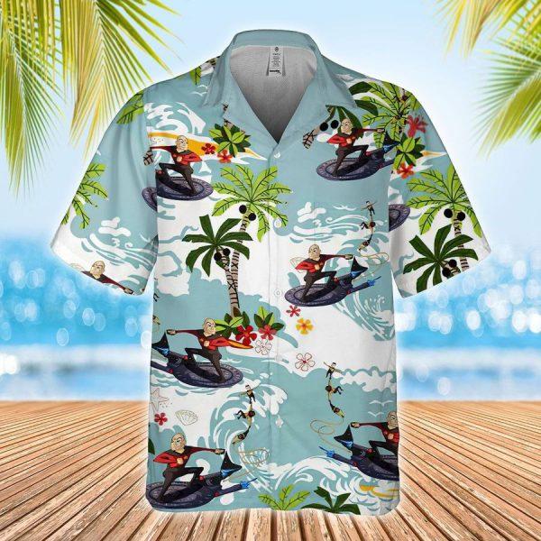 Star Trek Captain picard Surfing Hawaiian Shirt