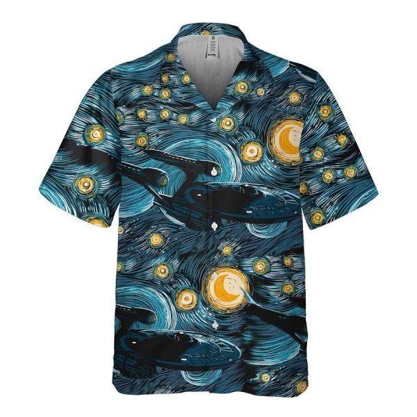 Star Trek Spaceship Starry Night Hawaiian Shirt