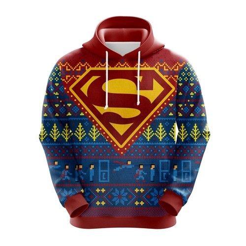 Superman ugly christmas hoodie 1