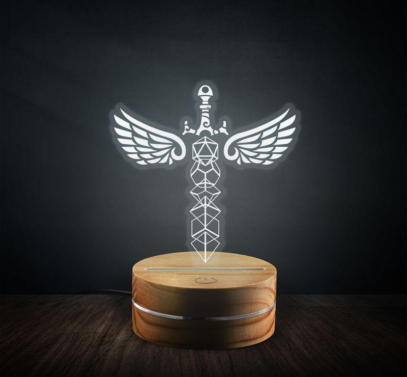 Sword angel wings led1