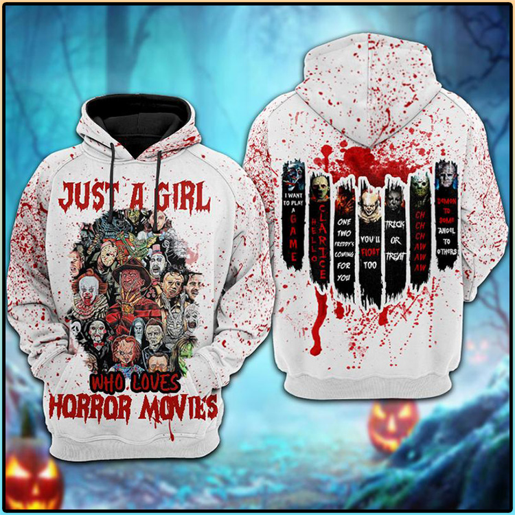 Just A Girl Who Loves Horror Movies 3D Hoodie2