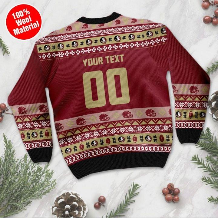 Florida State Seminoles Custom Ugly Christmas Sweater 2