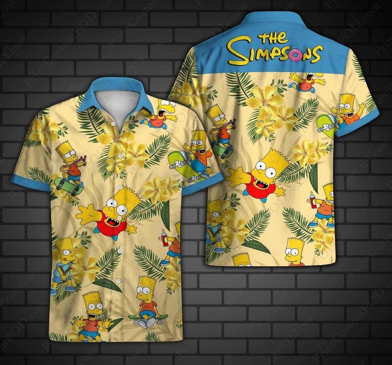The simpsons bart simpson hawaiian shirt 1 1