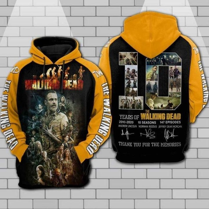 The walking dead anniversary 3d all over print hoodie 1 1