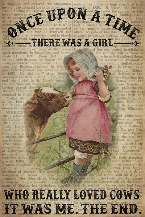 There was a girl who really loved cows poster