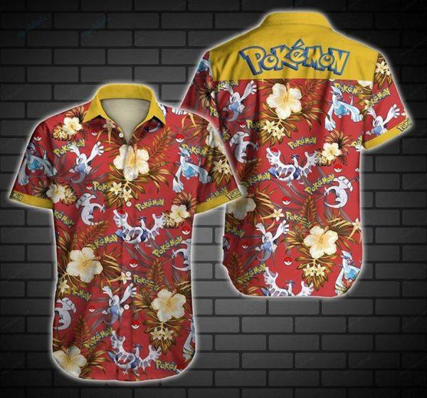Timus Lugia Pokemon Hawaiian Shirt