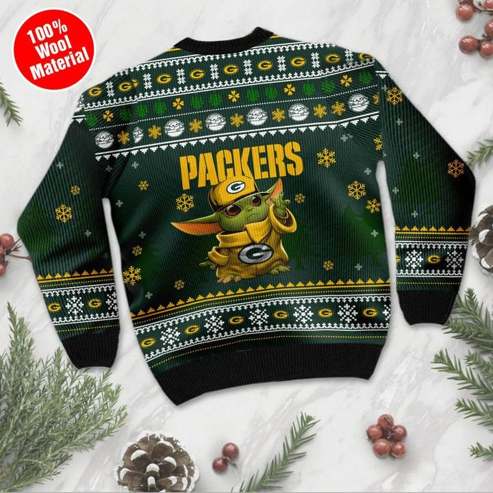 Baby Yoda Green Bay Packers ugly sweater 2
