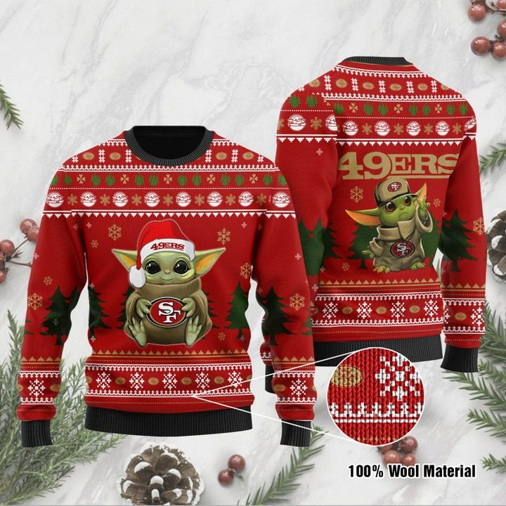 Baby Yoda San Francisco 49ers ugly sweater 1