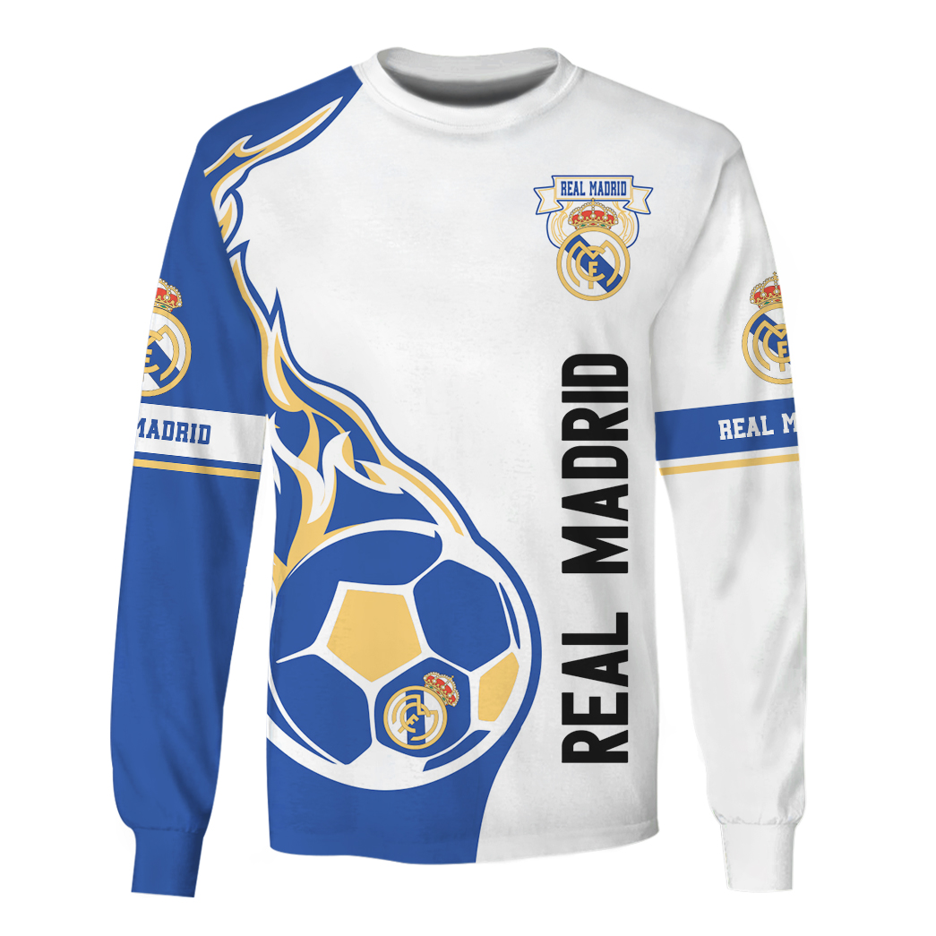 Real Madrid 3d all over print hoodie and shirt 1