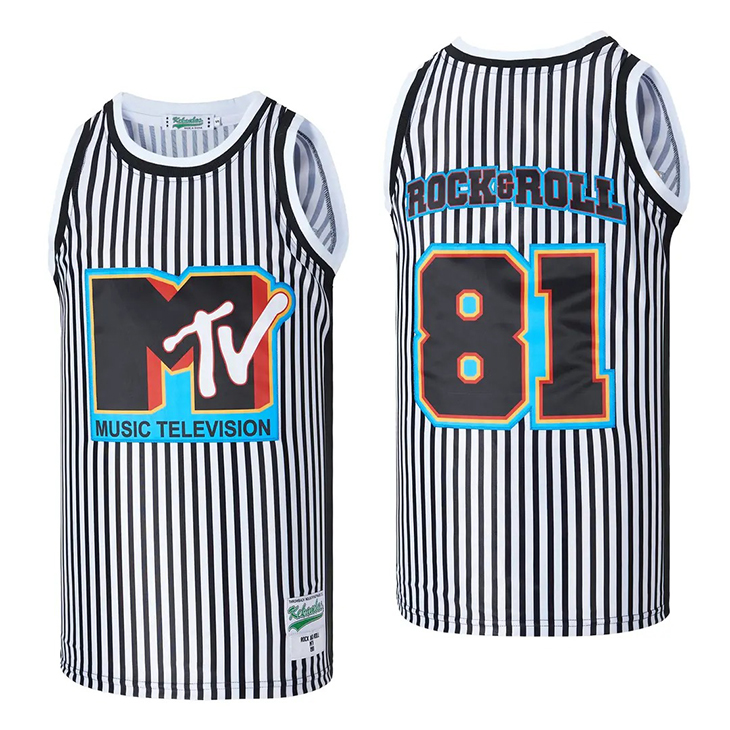 TV Music Television Rock And Roll Basketball Jersey Shirt