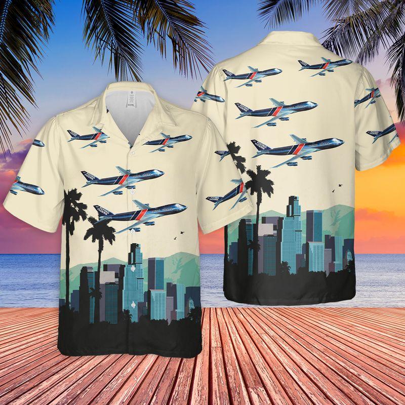 Flying Tiger Line Boeing 747 Hawaiian Shirt 1