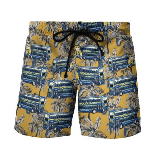 Double decker megabus hawaiian shirt 2