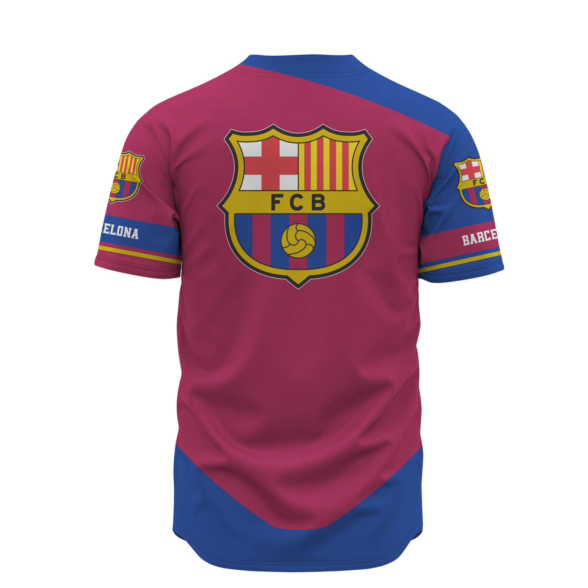 Barcelona custom name baseball jersey 3