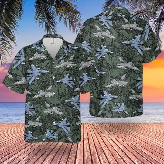 RAF historical tornado GR4 hawaiian shirt 1