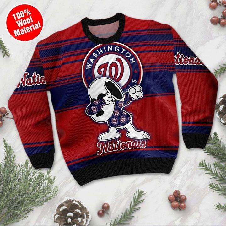 Snoopy Washington Nationals Ugly Christmas Sweater 3