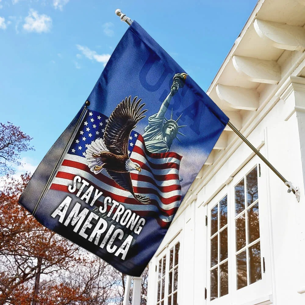 American Flag Eagle Stay Strong Flag5