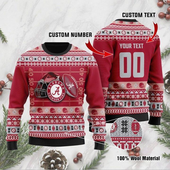 Alabama Crimson Tide Custom Ugly Christmas Sweater 1