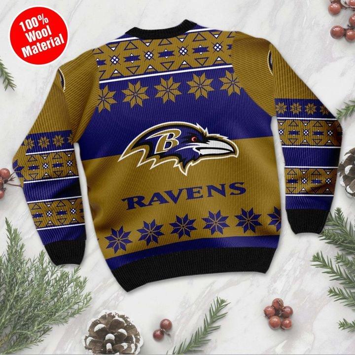 Baltimore ravens ugly Christmas sweater 2