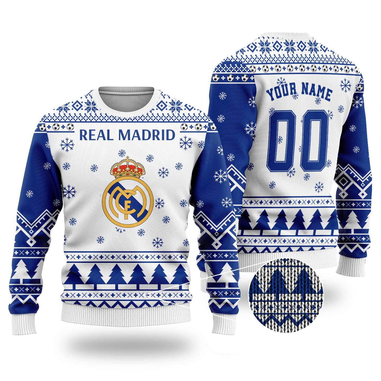 Real Madrid custom ugly Christmas sweater