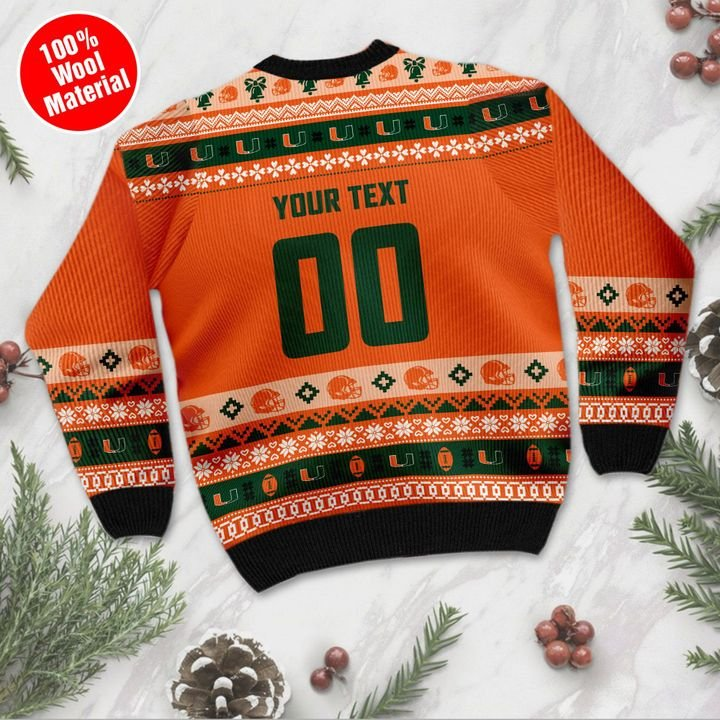 Miami Hurricanes Custom Ugly Christmas Sweater 3