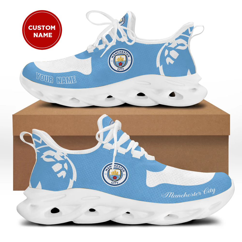 Manchester city yeezy clunkey max soul custom name shoes