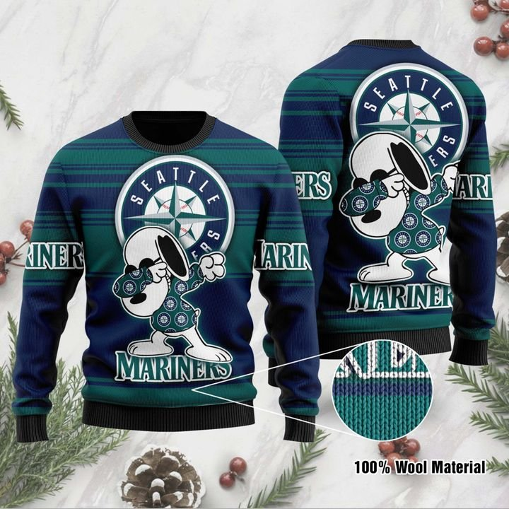 Snoopy Seattle Mariners Ugly Christmas Sweater 1