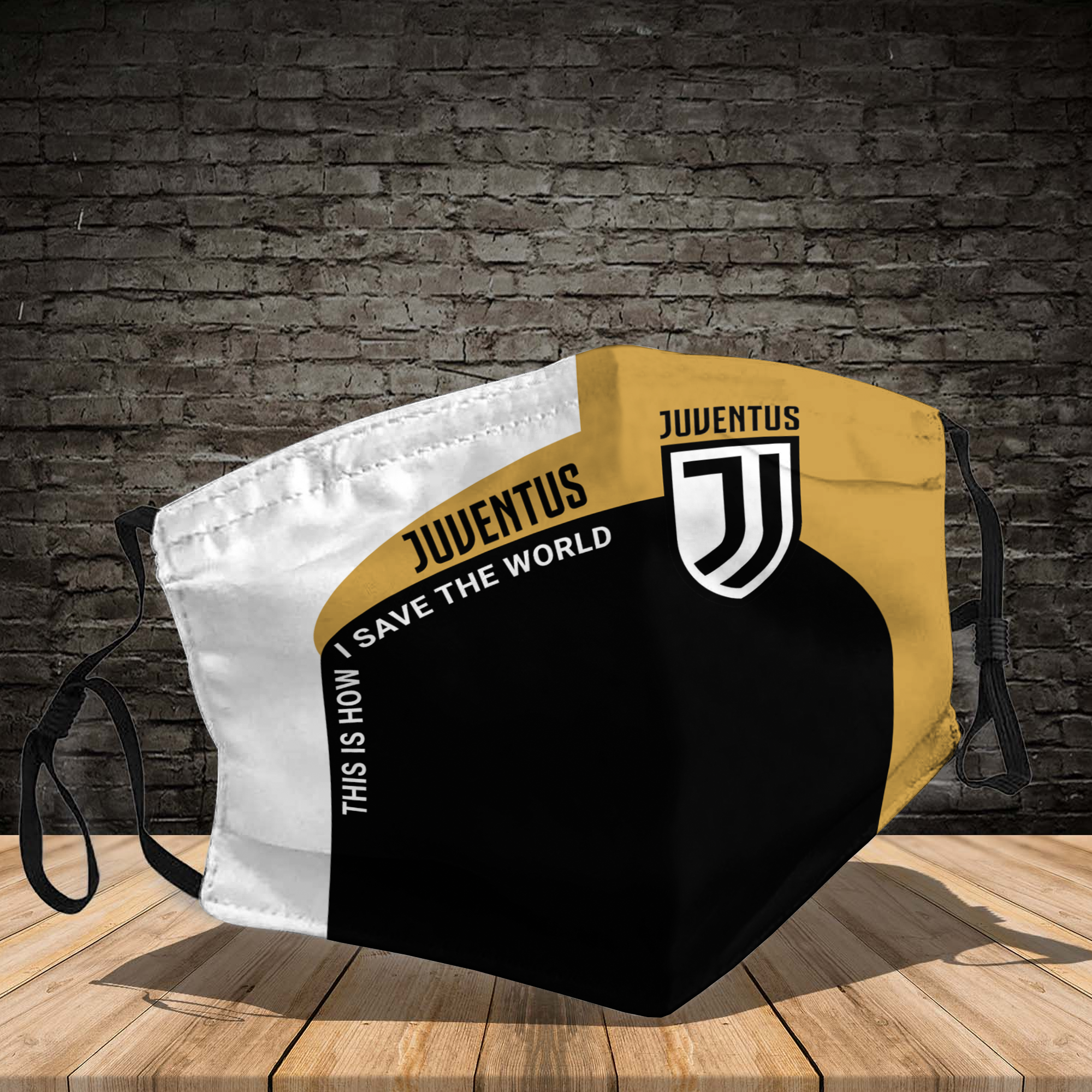 Juventus this is how I save the world face mask