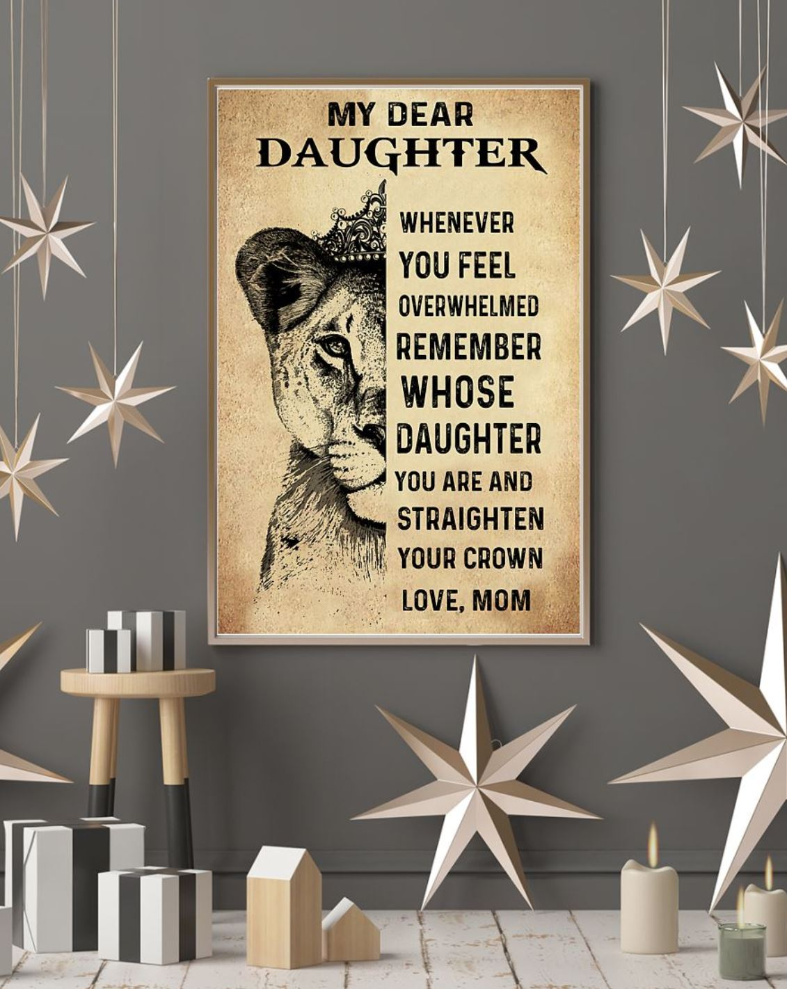 lion my dear daughter whenever you feel poster