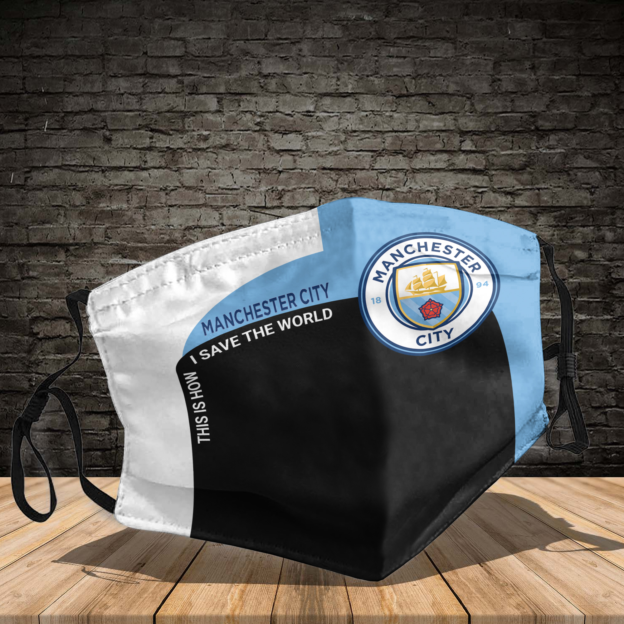 Manchester City this is how I save the world face mask