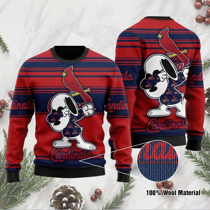 Snoopy St Louis Cardinals Ugly Christmas Sweater 1