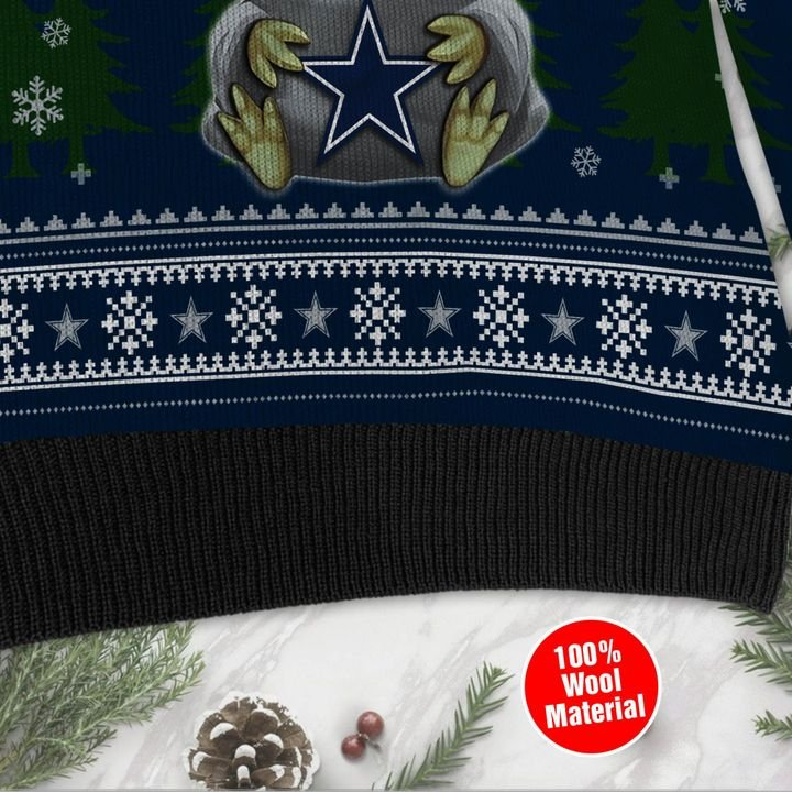 Baby Yoda love Dallas Cowboys ugly sweater 4