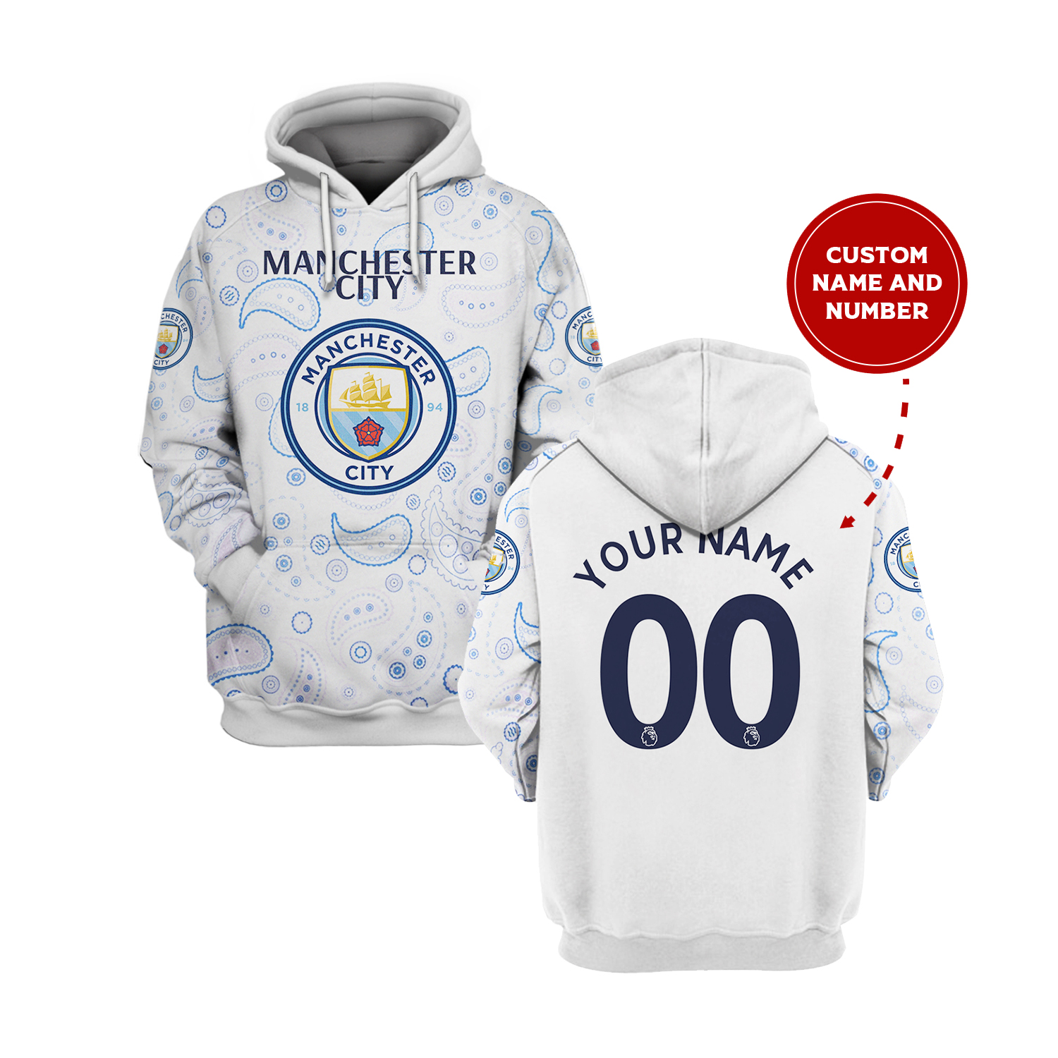 Manchester City custom 3d all over print hoodie 10