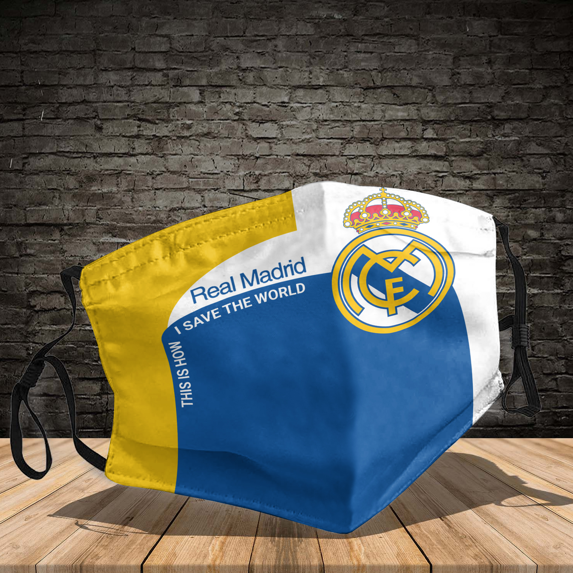 Real Madrid this is how I save the world face mask