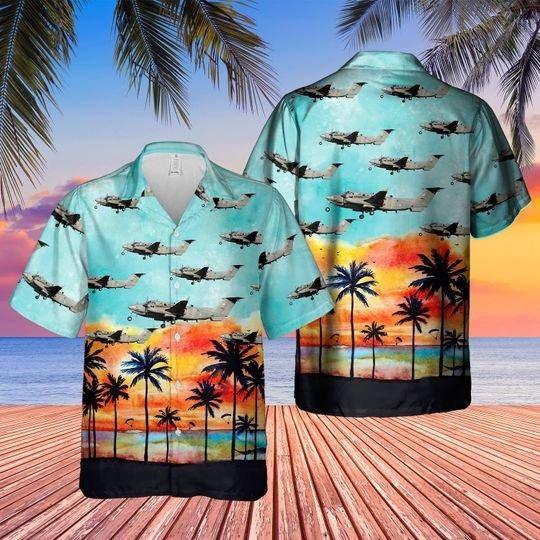 Raf beechcraft shadow r1 hawaiian shirt