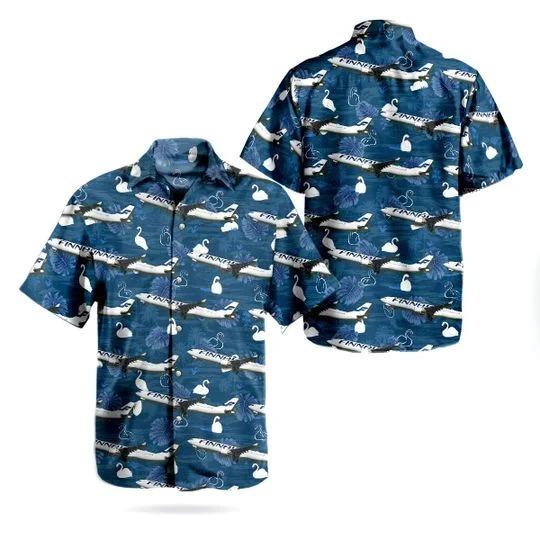 Finnair airbus A330 302 hawaiian shirt 1